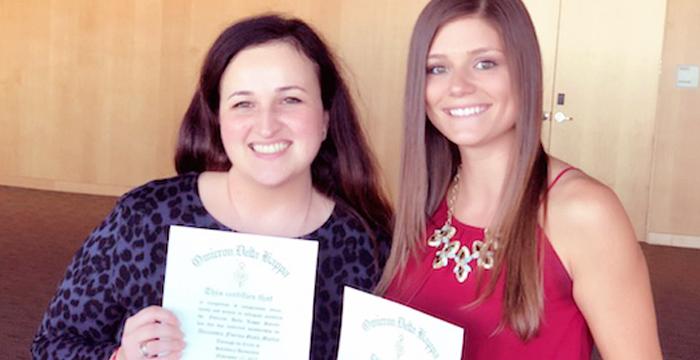 Ginta-Martin & Kesteven Inducted into Omicron Delta Kappa (ODK) National Leadership Honor Society